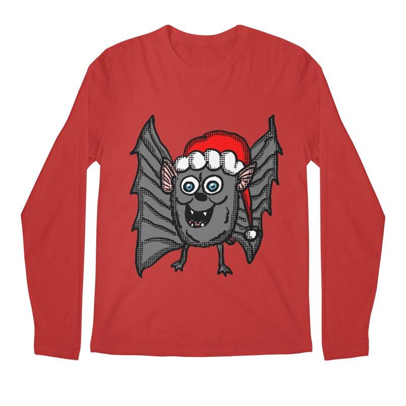 Christmas Bat Men's Longsleeve T-Shirt by ericallen's Artist Shop