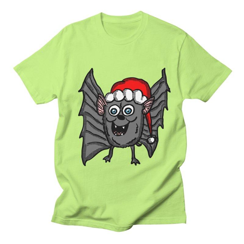 Christmas Bat Men's T-Shirt by ericallen's Artist Shop