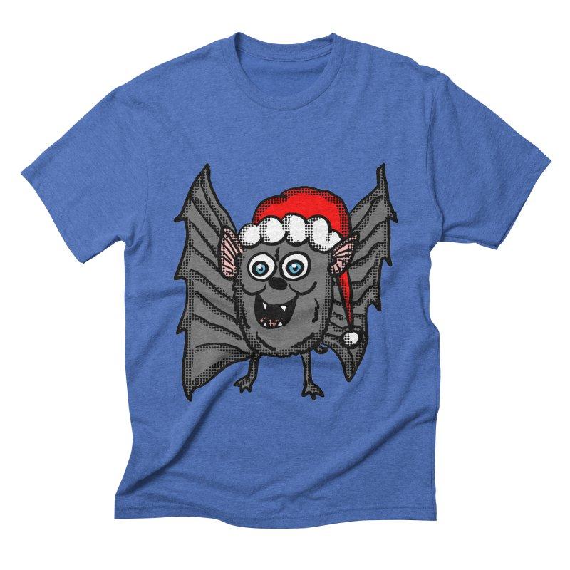 Christmas Bat Men's Triblend T-Shirt by ericallen's Artist Shop