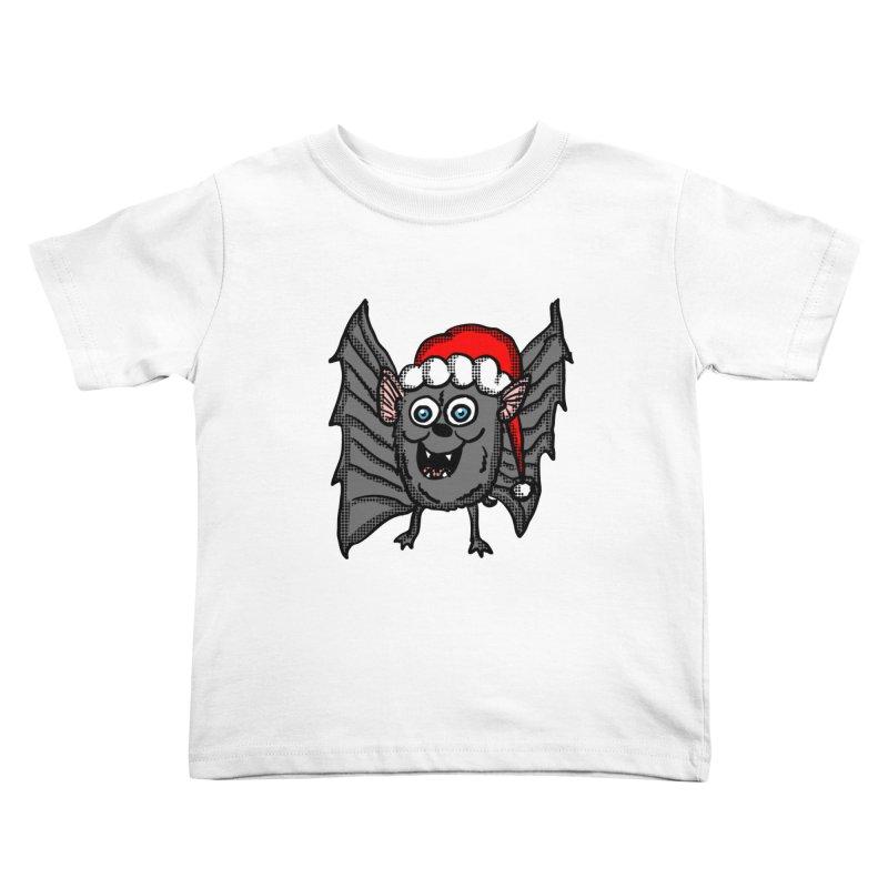 Christmas Bat Kids Toddler T-Shirt by ericallen's Artist Shop