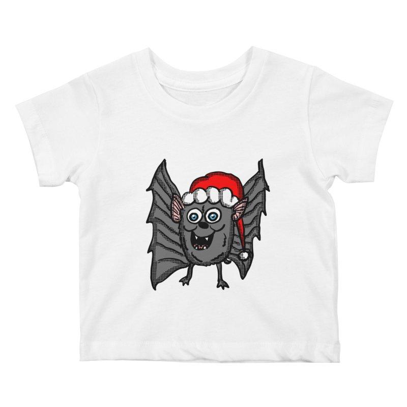 Christmas Bat Kids Baby T-Shirt by ericallen's Artist Shop