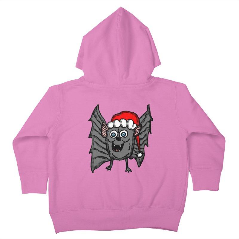 Christmas Bat Kids Toddler Zip-Up Hoody by ericallen's Artist Shop