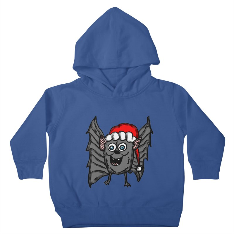 Christmas Bat Kids Toddler Pullover Hoody by ericallen's Artist Shop