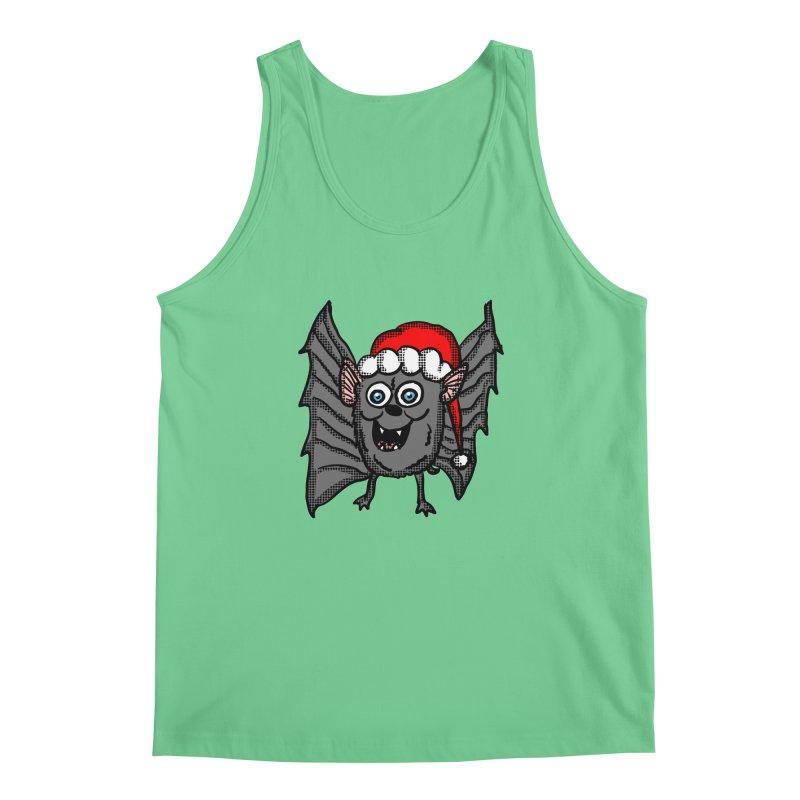 Christmas Bat Men's Tank by ericallen's Artist Shop