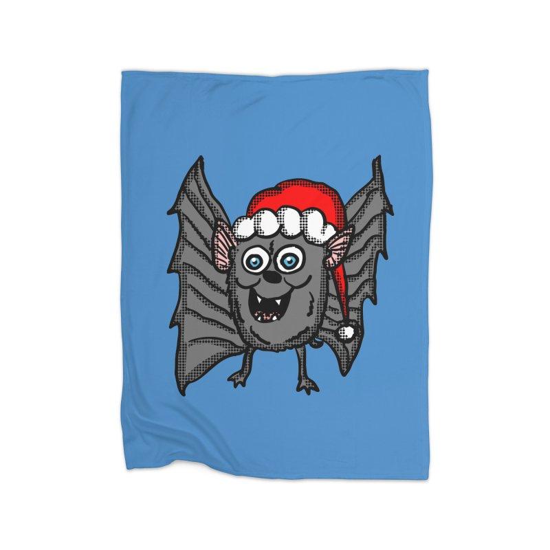 Christmas Bat Home Blanket by ericallen's Artist Shop