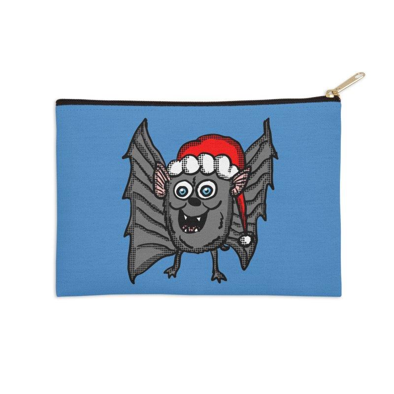Christmas Bat Accessories Zip Pouch by ericallen's Artist Shop
