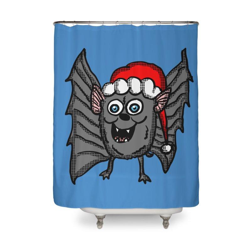 Christmas Bat Home Shower Curtain by ericallen's Artist Shop