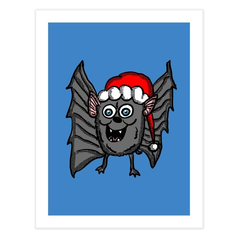 Christmas Bat Home Fine Art Print by ericallen's Artist Shop
