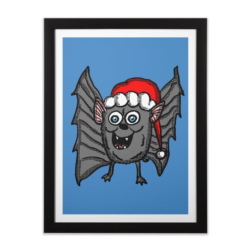 Christmas Bat Home Framed Fine Art Print by ericallen's Artist Shop