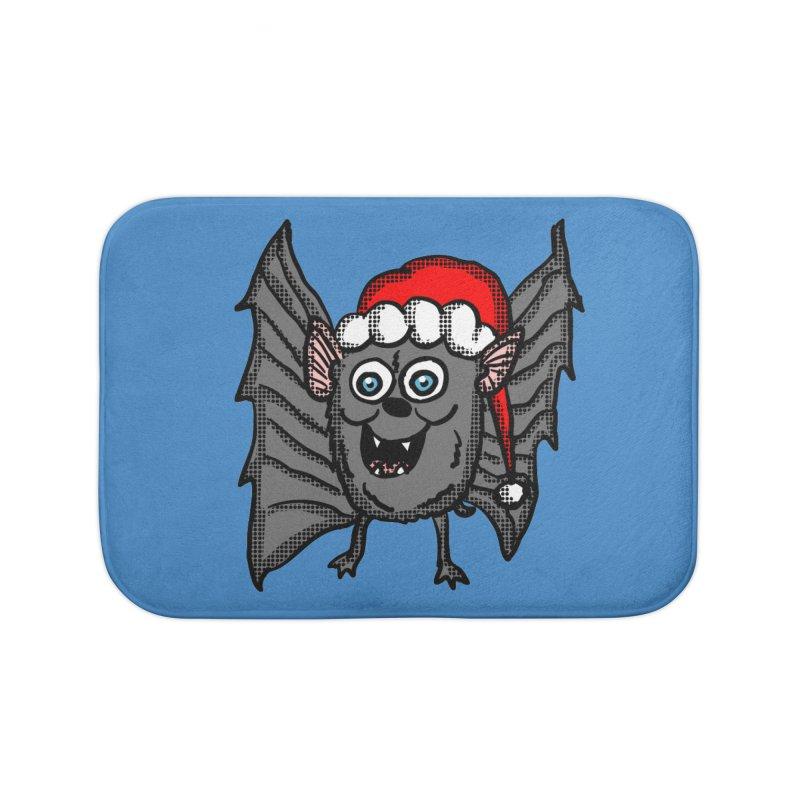 Christmas Bat Home Bath Mat by ericallen's Artist Shop