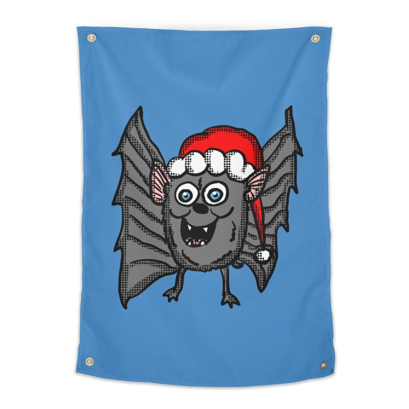 Christmas Bat Home Tapestry by ericallen's Artist Shop