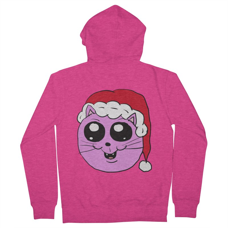 Cute Christmas Kitty Women's Zip-Up Hoody by ericallen's Artist Shop