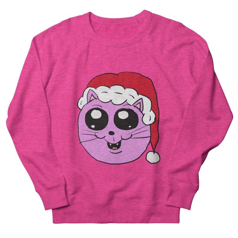 Cute Christmas Kitty Women's Sweatshirt by ericallen's Artist Shop