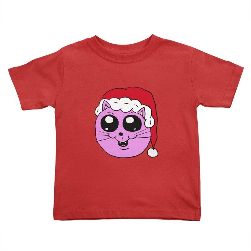 Cute Christmas Kitty Kids Toddler T-Shirt by ericallen's Artist Shop
