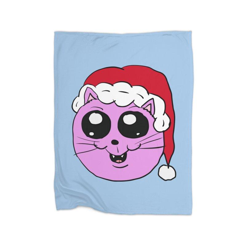 Cute Christmas Kitty Home Blanket by ericallen's Artist Shop