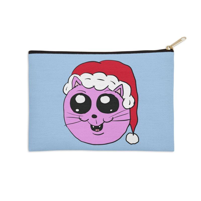 Cute Christmas Kitty Accessories Zip Pouch by ericallen's Artist Shop