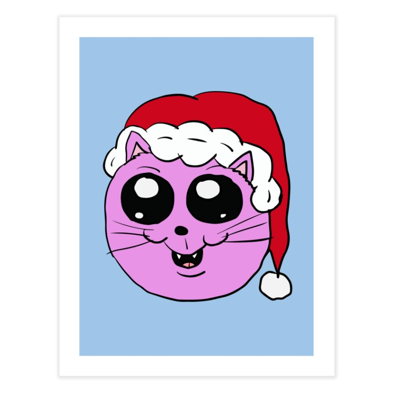 Cute Christmas Kitty Home Fine Art Print by ericallen's Artist Shop
