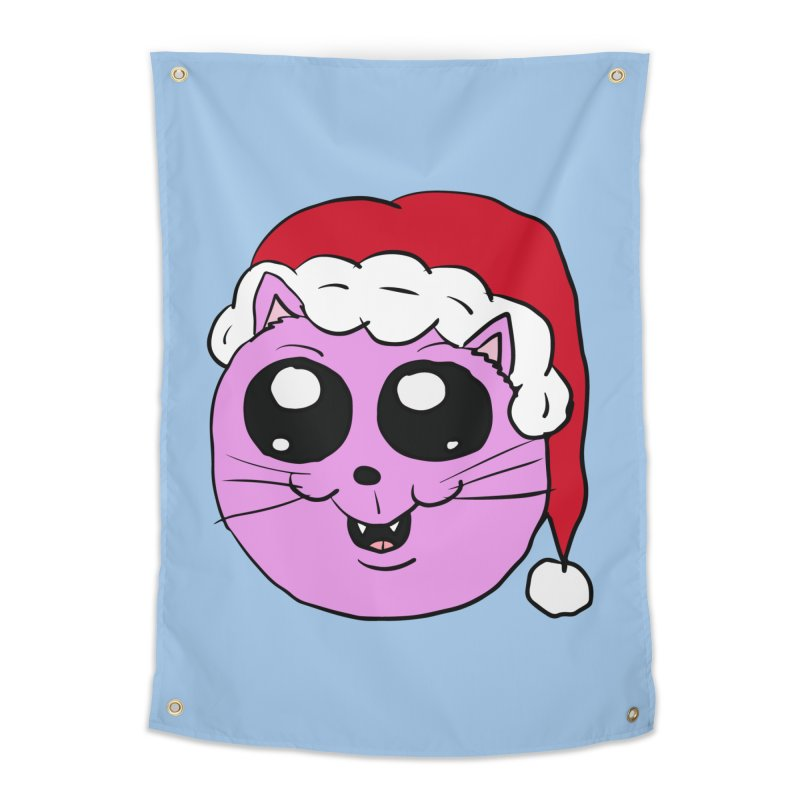 Cute Christmas Kitty Home Tapestry by ericallen's Artist Shop
