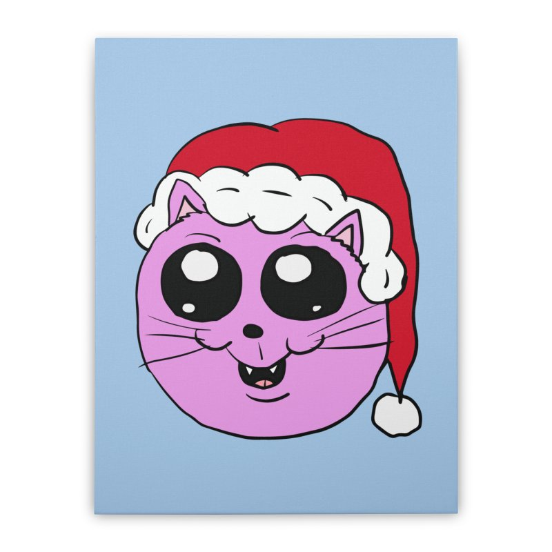 Cute Christmas Kitty Home Stretched Canvas by ericallen's Artist Shop
