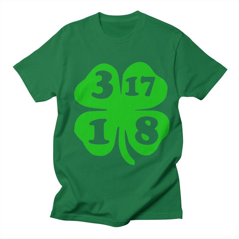 3-17-18 Shamrock in Men's T-Shirt Kelly Green by ericallen's Artist Shop