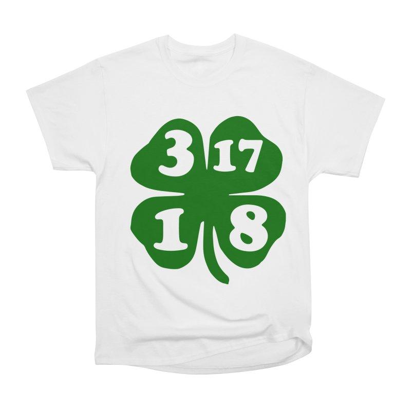 3-17-18 Shamrock (dark green) Men's Classic T-Shirt by ericallen's Artist Shop