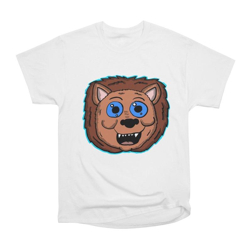 Cartoon Lion Head Men's Classic T-Shirt by ericallen's Artist Shop