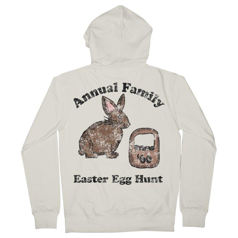 Vintage Annual Family Easter Egg Hunt Men's Zip-Up Hoody by ericallen's Artist Shop
