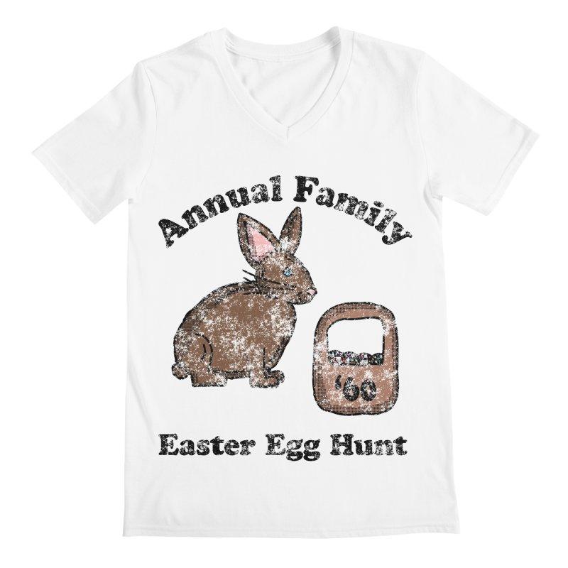 Vintage Annual Family Easter Egg Hunt Men's V-Neck by ericallen's Artist Shop
