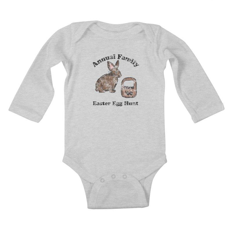 Vintage Annual Family Easter Egg Hunt Kids Baby Longsleeve Bodysuit by ericallen's Artist Shop