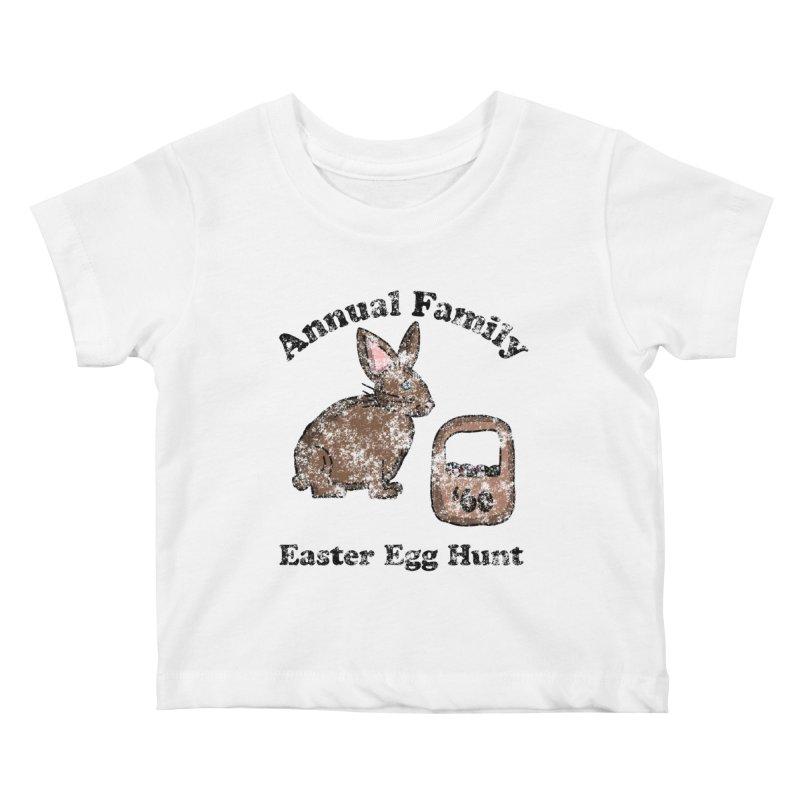 Vintage Annual Family Easter Egg Hunt Kids Baby T-Shirt by ericallen's Artist Shop