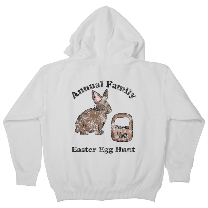 Vintage Annual Family Easter Egg Hunt Kids Zip-Up Hoody by ericallen's Artist Shop