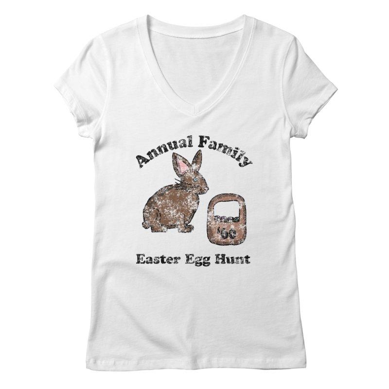 Vintage Annual Family Easter Egg Hunt Women's V-Neck by ericallen's Artist Shop