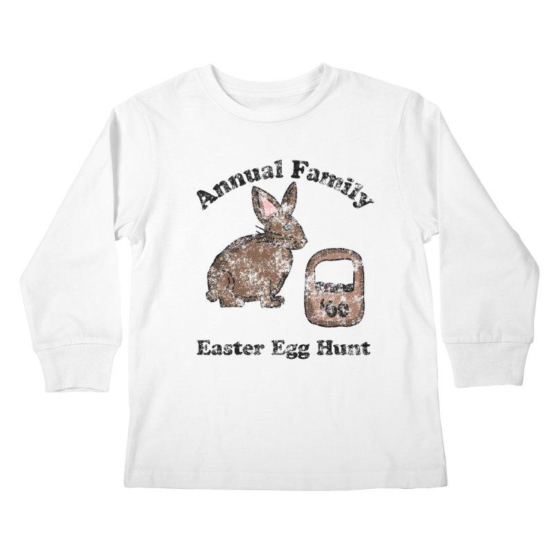 Vintage Annual Family Easter Egg Hunt Kids Longsleeve T-Shirt by ericallen's Artist Shop
