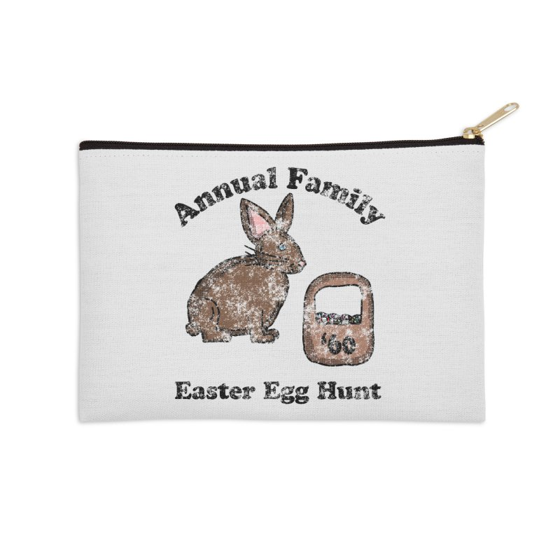 Vintage Annual Family Easter Egg Hunt Accessories Zip Pouch by ericallen's Artist Shop