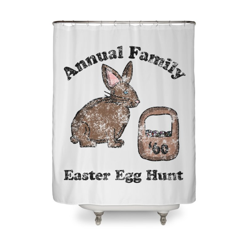 Vintage Annual Family Easter Egg Hunt Home Shower Curtain by ericallen's Artist Shop