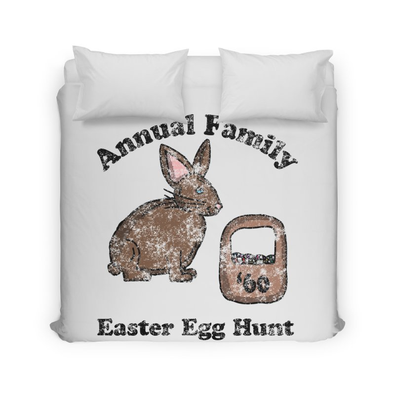 Vintage Annual Family Easter Egg Hunt Home Duvet by ericallen's Artist Shop