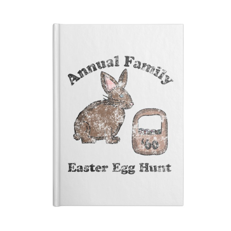 Vintage Annual Family Easter Egg Hunt Accessories Notebook by ericallen's Artist Shop