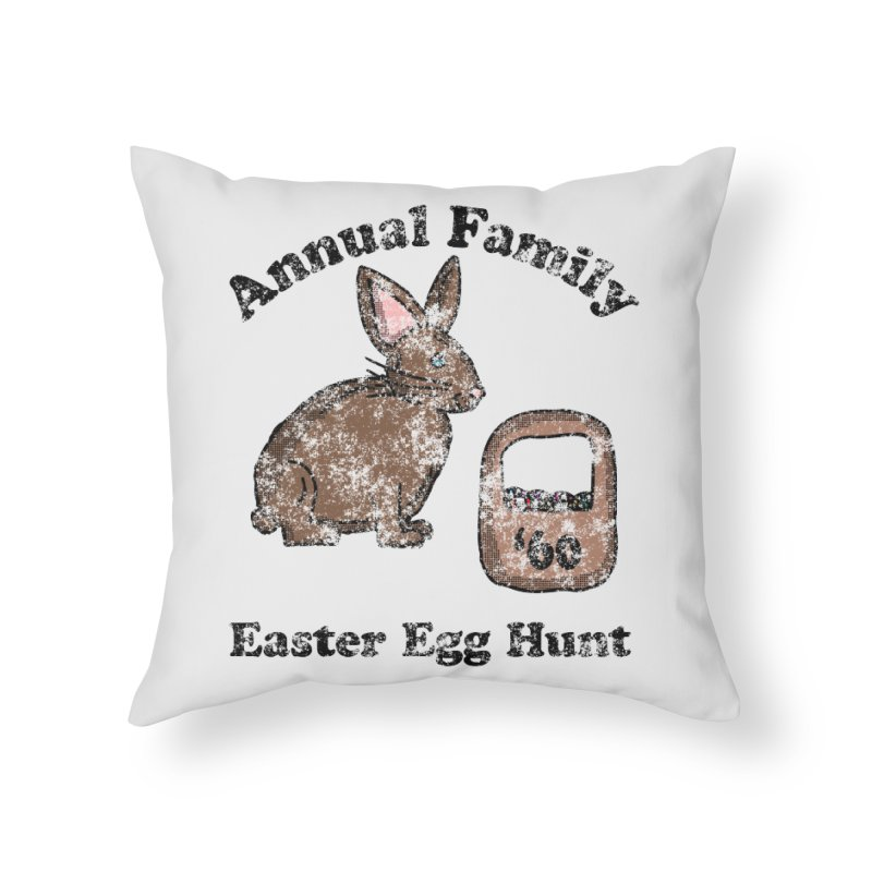 Vintage Annual Family Easter Egg Hunt Home Throw Pillow by ericallen's Artist Shop