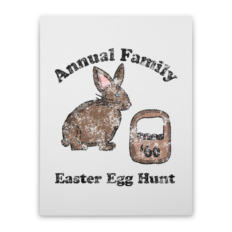 Vintage Annual Family Easter Egg Hunt Home Stretched Canvas by ericallen's Artist Shop
