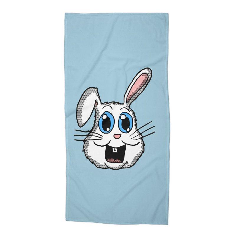 Easter Bunny Head Accessories Beach Towel by ericallen's Artist Shop