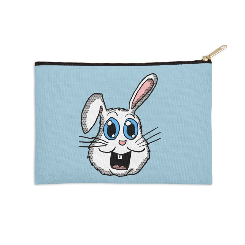 Easter Bunny Head Accessories Zip Pouch by ericallen's Artist Shop