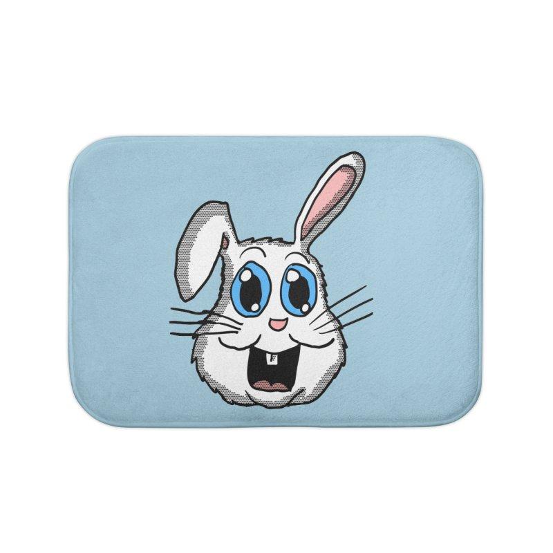 Easter Bunny Head Home Bath Mat by ericallen's Artist Shop