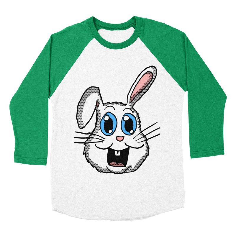 Easter Bunny Head Women's Baseball Triblend T-Shirt by ericallen's Artist Shop