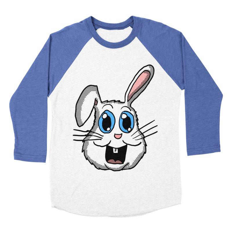 Easter Bunny Head Men's Baseball Triblend T-Shirt by ericallen's Artist Shop