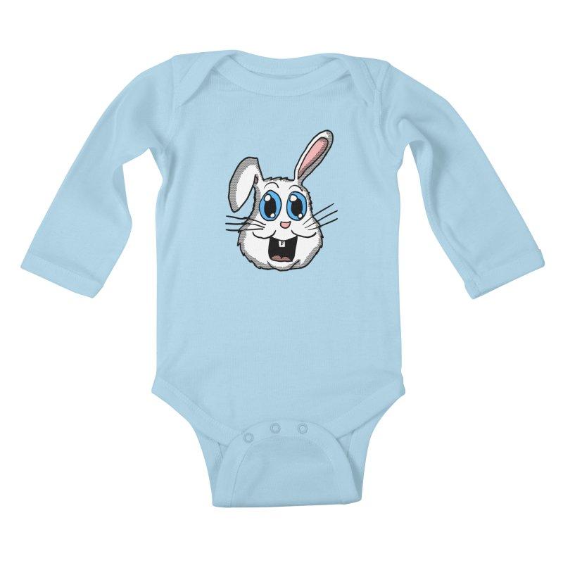 Easter Bunny Head Kids Baby Longsleeve Bodysuit by ericallen's Artist Shop