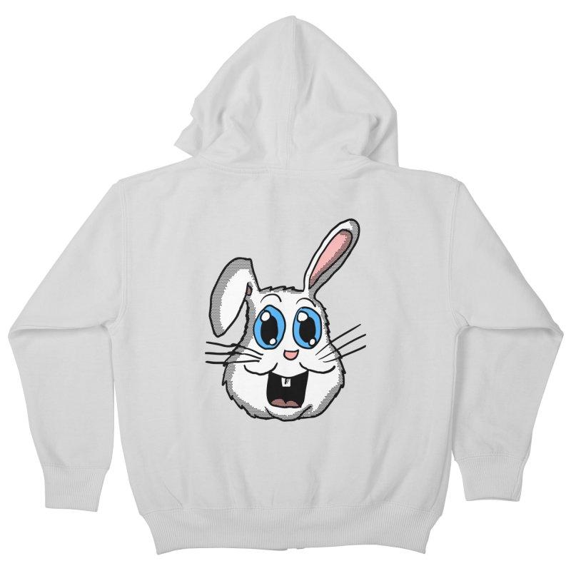 Easter Bunny Head Kids Zip-Up Hoody by ericallen's Artist Shop