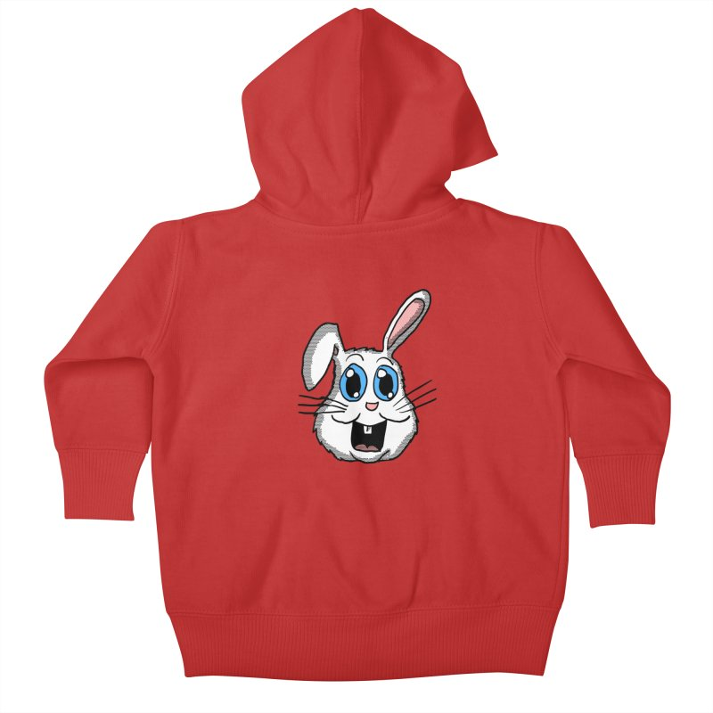 Easter Bunny Head Kids Baby Zip-Up Hoody by ericallen's Artist Shop