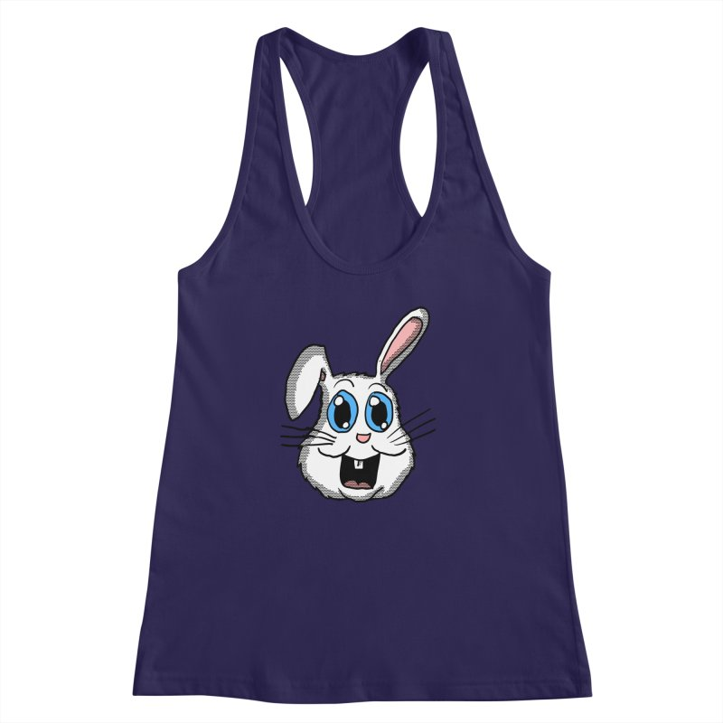 Easter Bunny Head Women's Racerback Tank by ericallen's Artist Shop