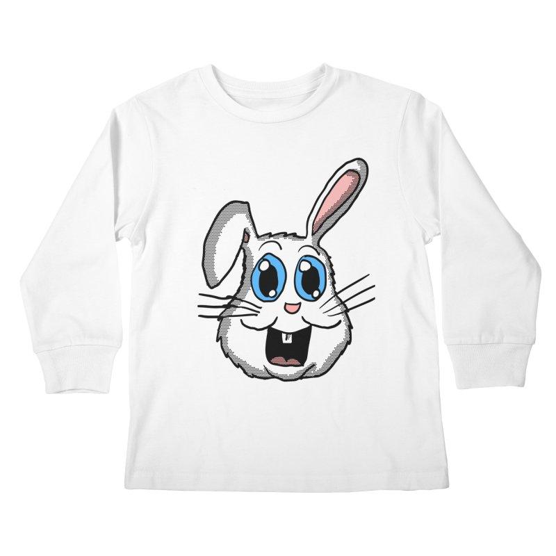 Easter Bunny Head Kids Longsleeve T-Shirt by ericallen's Artist Shop