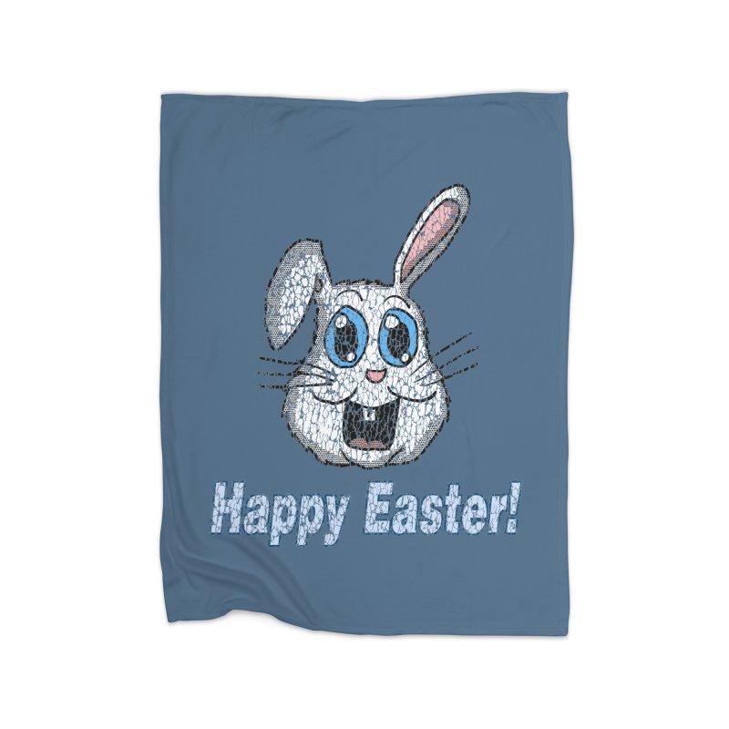 Vintage Happy Easter Bunny Home Blanket by ericallen's Artist Shop